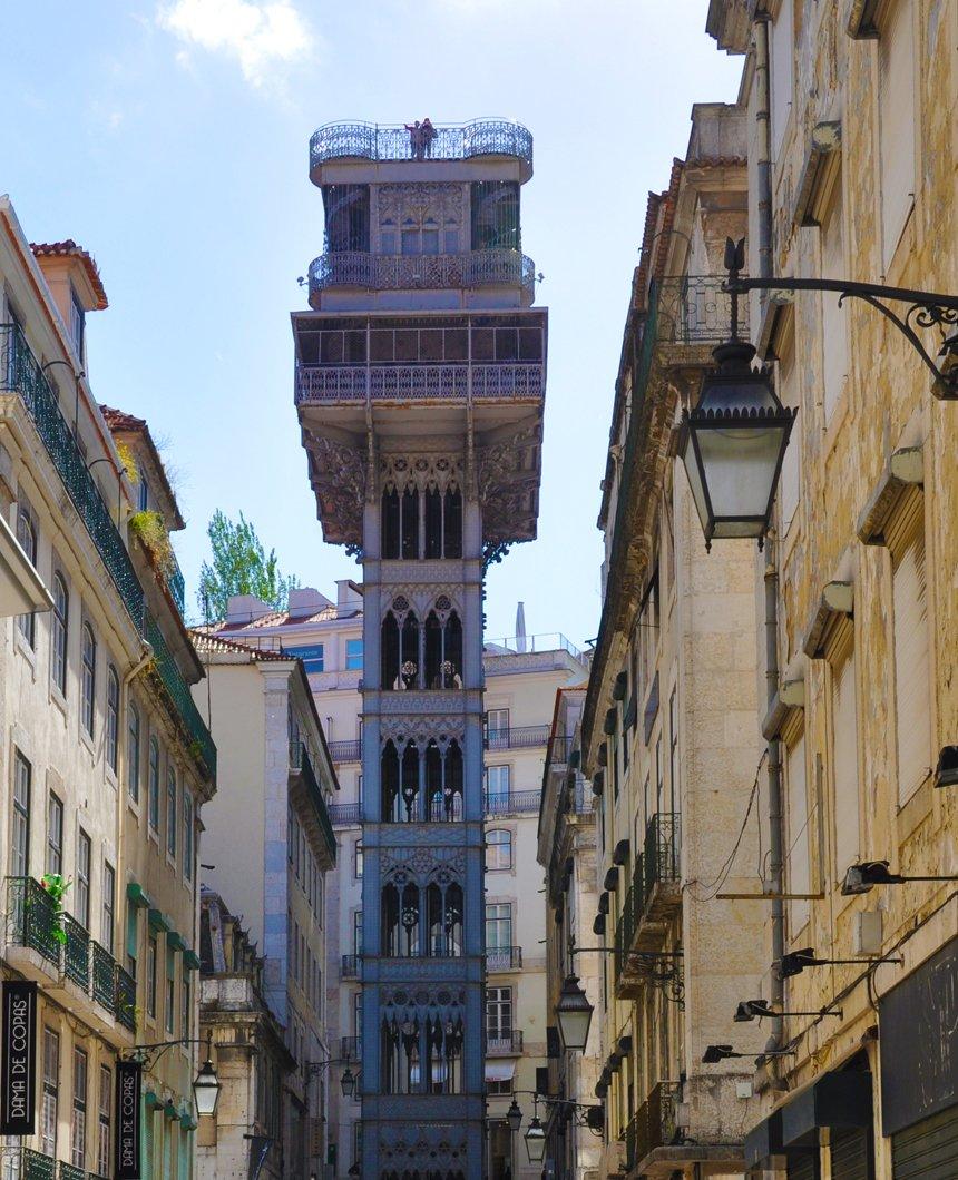 Lisbon Santa Justa Elevator