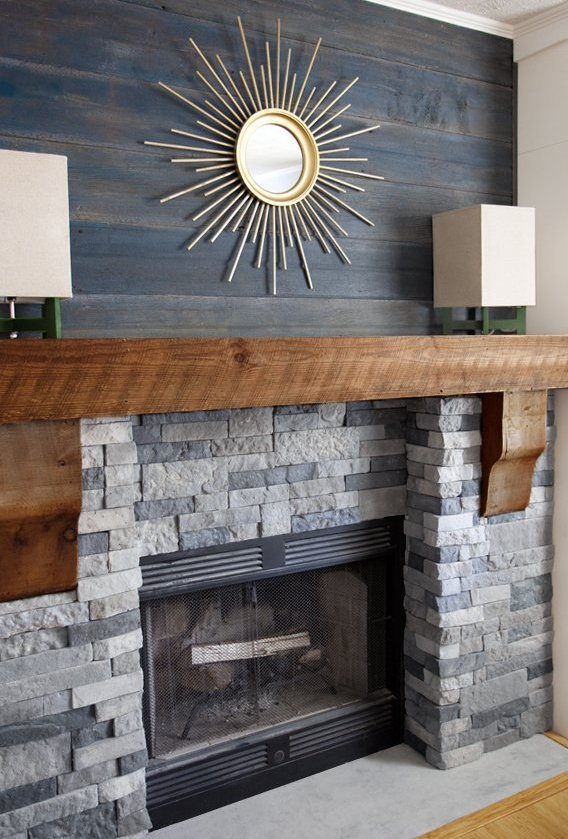 25 Best DIY Fireplace Makeovers | Layla from The Lettered Cottage