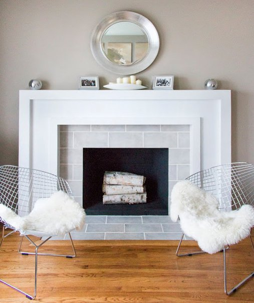 25 Best DIY Fireplace Makeovers | Stephanie from Swing 'N Cocoa