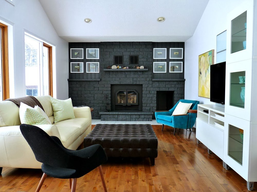 25 Best DIY Fireplace Makeovers | Tanya from Dans le Lakehouse