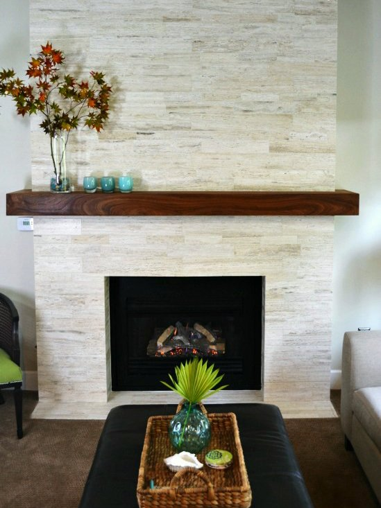 25 Best DIY Fireplace Makeovers | Sharon from Lilikoi Joy