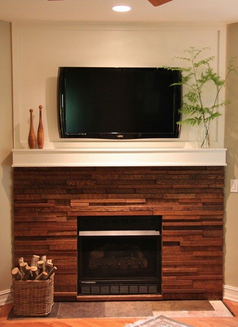 25 Best DIY Fireplace Makeovers | Shannon from Shannon Berrey Design