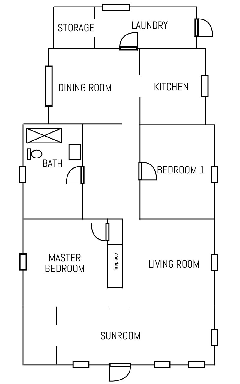 Floor Plan – BEFORE