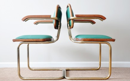 Dining Room Concept: Italian Cantilever Chairs