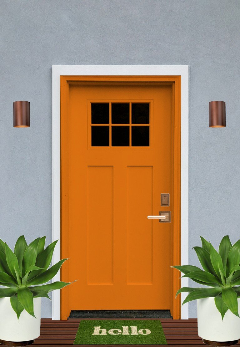 92 orange front door the most colorful front doors welcome home burnt orange door best - Exterior grade paint concept ...
