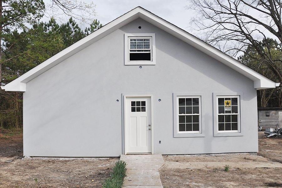 Home Renovation Progress Report Bungalow Stucco Exterior