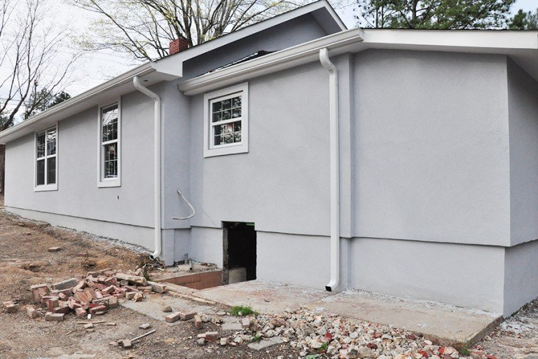 Home Renovation Progress Report- Bungalow Stucco Exterior