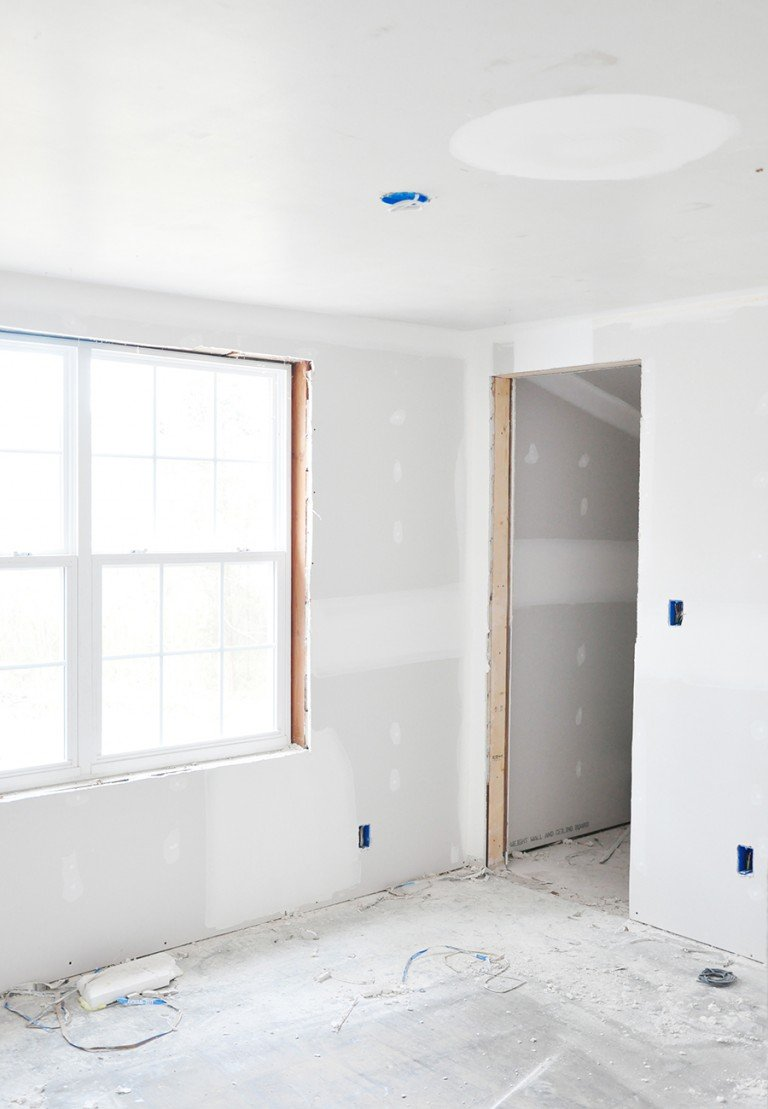 Home Renovation Progress Report - Drywall Installation