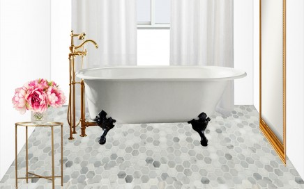 Master Bathroom Design Concept: Old World Glamour