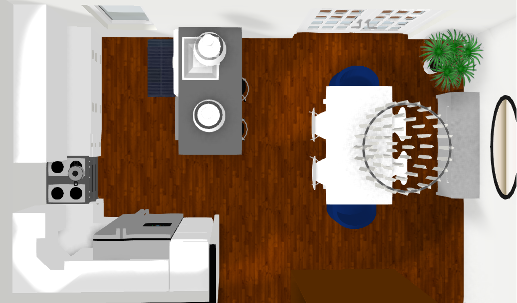 Kitchen and Dining Room Rendering