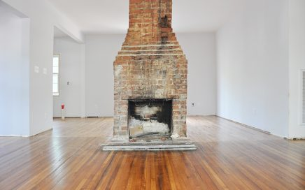 Fireplace Makeover: Painting the Brick Fireplace White