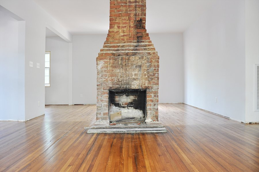 Brick Fireplace Part - 47: Fireplace Makeover: Painting The Brick Fireplace White