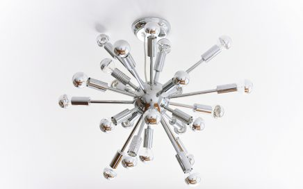 A Mid-Century Modern Sputnik Chandelier for the Living Room