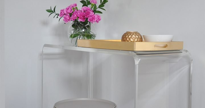 Entryway Update: Lucite Console Table