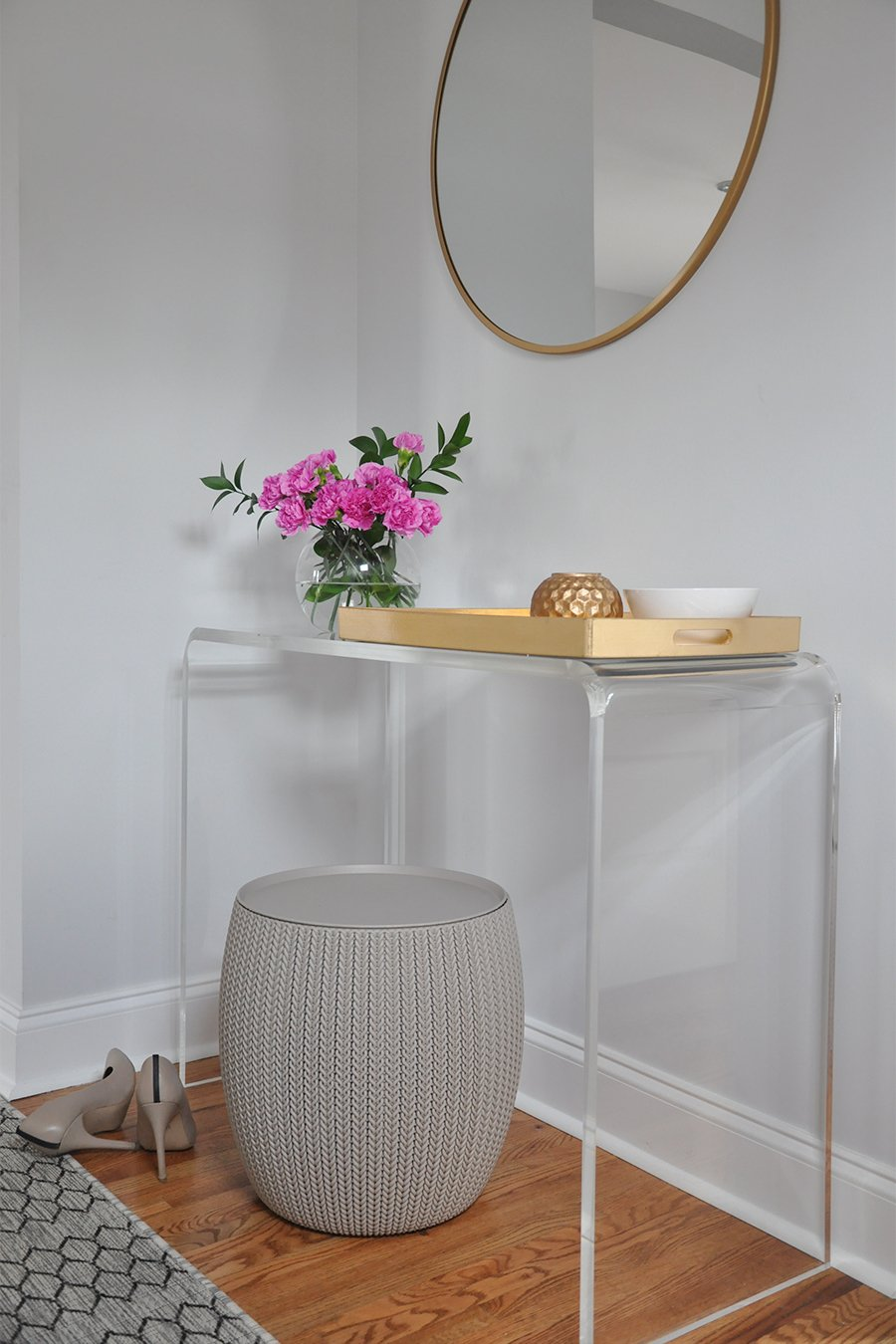 Entryway Update Lucite Console Table