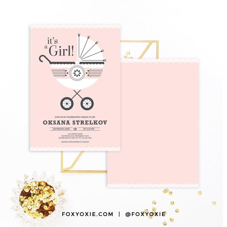 SHOP UPDATE: You Can Now Shop My Baby Shower Invitation