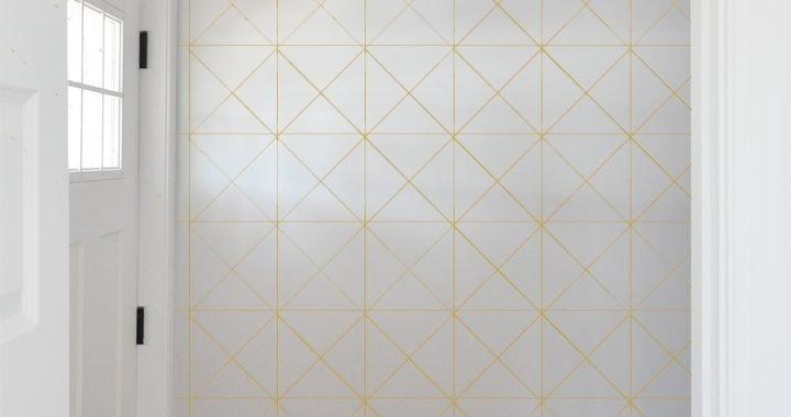DIY Gold Sharpie Wall