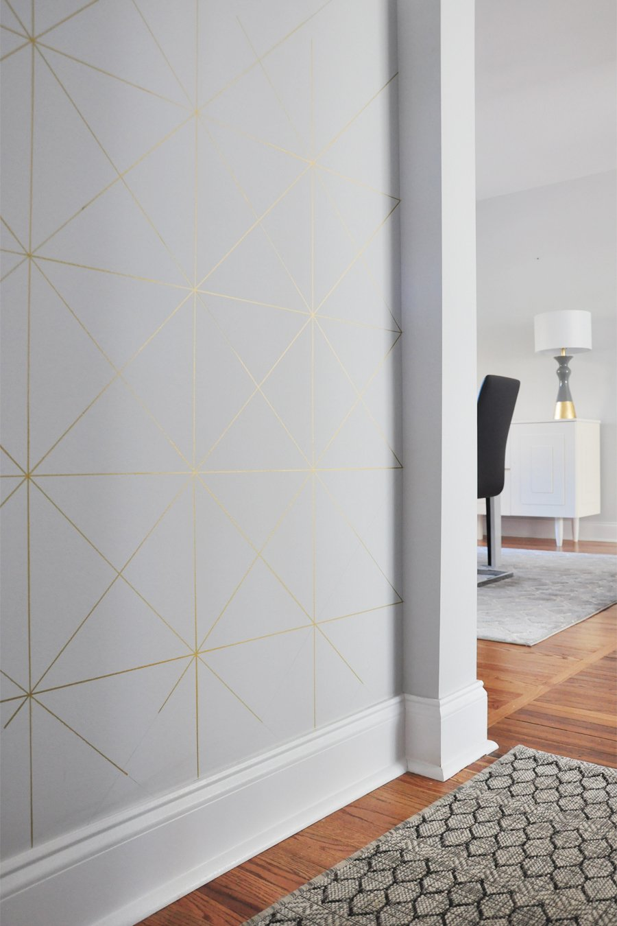 DIY Gold Sharpie Wall