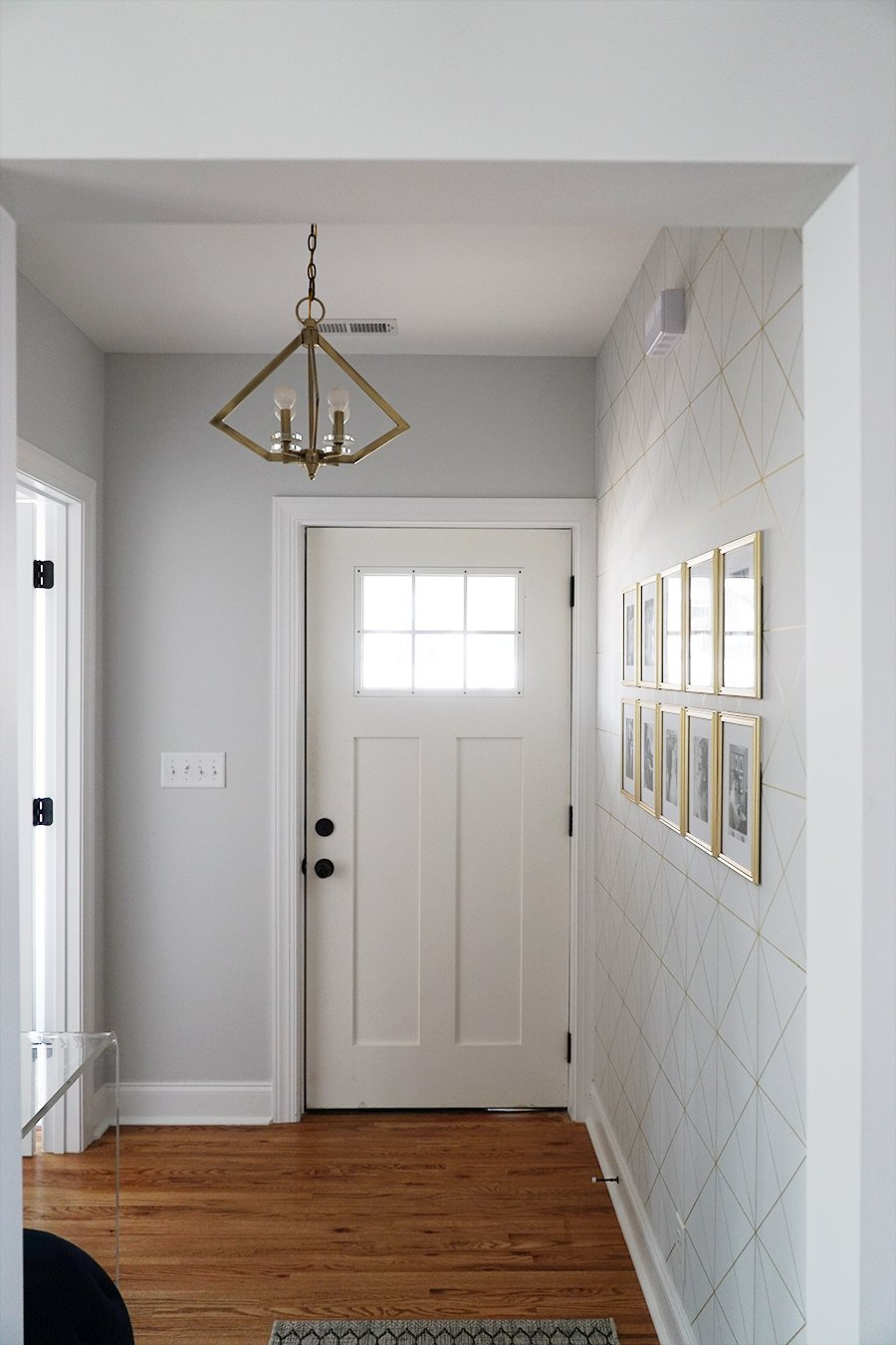 Brass, 4 Light Pendant From Our Entryway