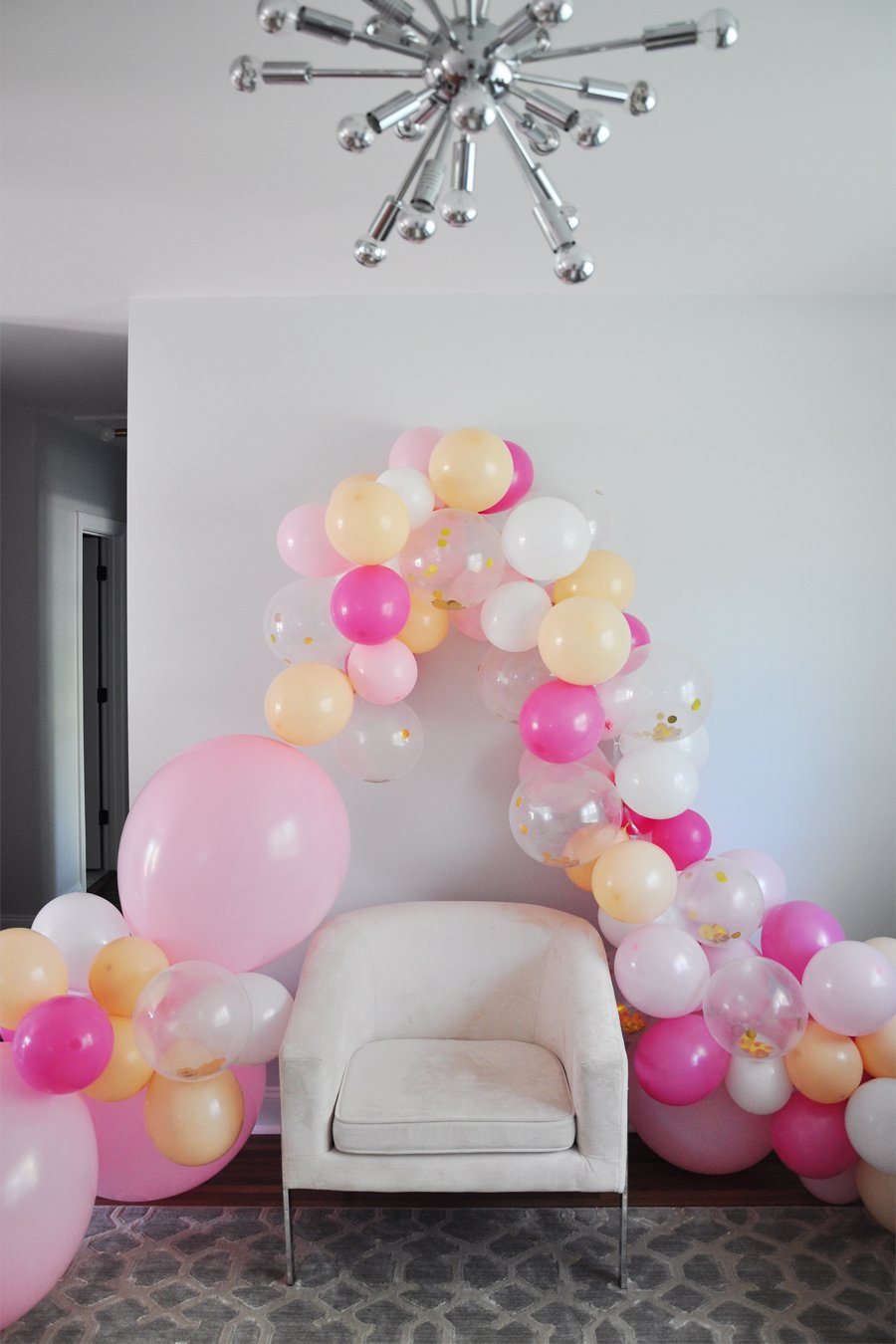 DIY Balloon Garland + The Easiest Birthday Party Decor Ideas