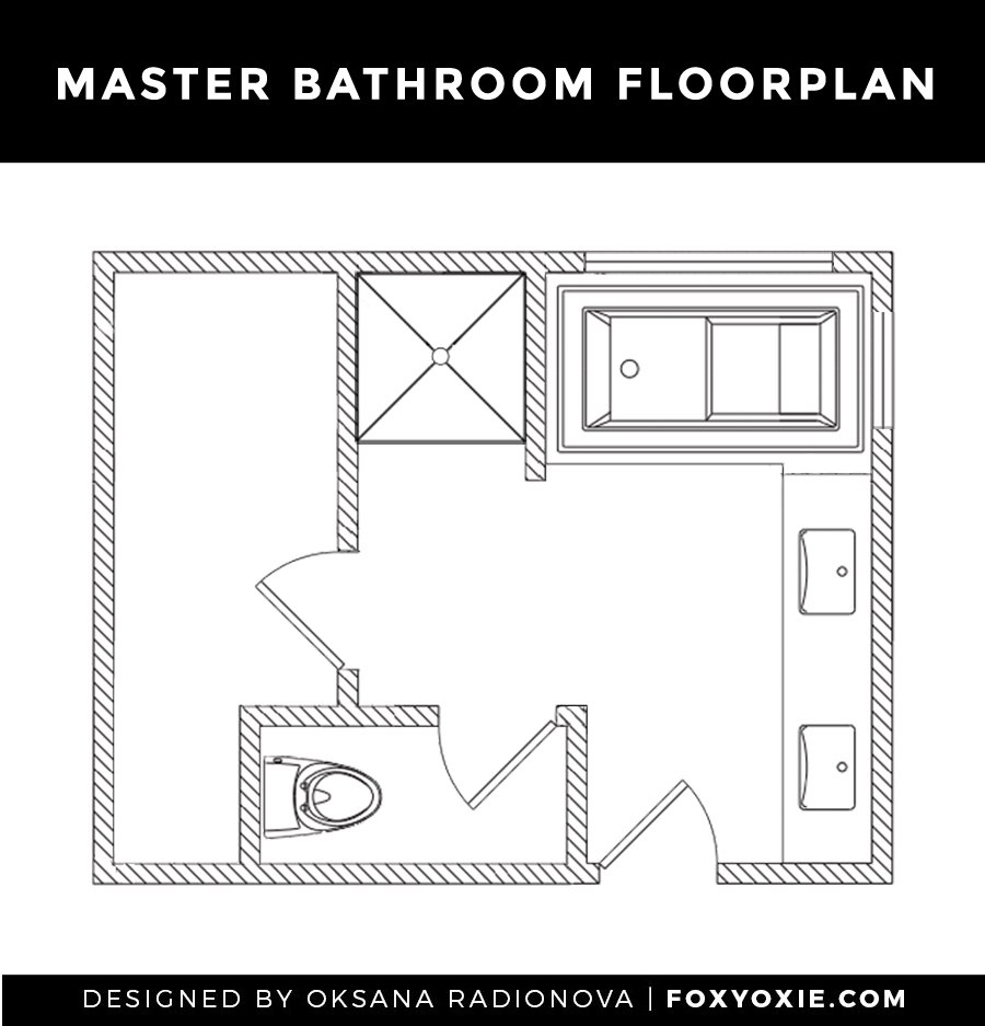 The Master Bathroom Design Plan, Moodboard + Before Images